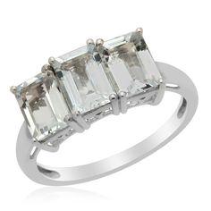 Liquidation Channel: Espirito Santo Aquamarine Ring in Platinum Overlay Sterling Silver (Nickel Free)