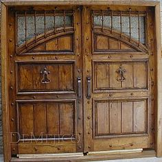 Custom Hand Forged Wooden Doors