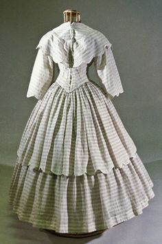 In the Swan's Shadow: Cotton summer dress, ca. 1855