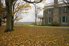 Hyde Park, north of Poughkeepsie, has long been associated with the Roosevelts, a prominent family since the 19th century. The estate of 1520 acres includes the Franklin D Roosevelt Library & Museum, which details achievements in FDR's presidency; a visit usually includes a guided tour of Springwood, FDR's lifelong home. Intimate details have been preserved, including his desk – left as it was the day before he died – and the elevator he used to hoist his polio-stricken body to the 2nd floor.