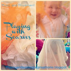 Read how playing with scarves can help young children with development.