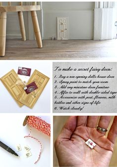 Add these tiny Fairy or Elf doors to your woodwork and wait for the kids to discover them!