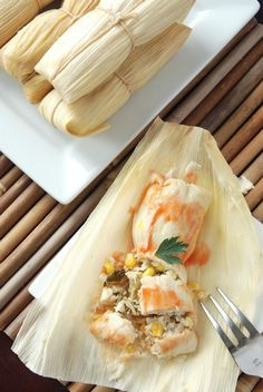I love, love, love tamales!!!  My dad used to buy homemade ones from his co-worker.  I want to try to make some one day but they still seem a bit intimidating to me.