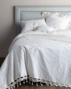 """""""Celeste"""" Bed Linens by Pom Pom at Home at Horchow. at home, pom poms, beds, textil celest, textiles, bed linens, chelsea textil, bedroom, guest bathrooms"""