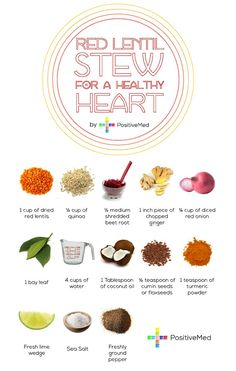 Red Lentil Stew with Beets for a healthy heart!