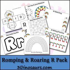Free Romping & Roaring R Pack - 3Dinosaurs.com