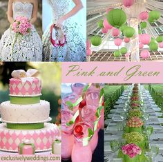 Pink and Green Wedding Colors | #exclusivelyweddings