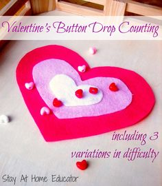 Valentine's Button Drop Counting from Stay at Home Educator