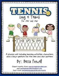 LOVE this unit!!  You MUST purchase this... totally worth the money - 3 bucks!!  I love the gestures idea, swat with tennis rackets, and so many other aspects!  Long e Tennis Teams {an /ee/ and /ea/ phonics unit}