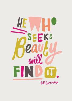 He Who Seeks Beauty Print, www.babasouk.ca