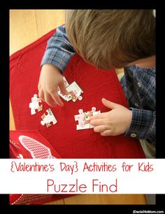 {Valentine's Day} Activities for Kids: Puzzle Find | JDaniel4's Mom