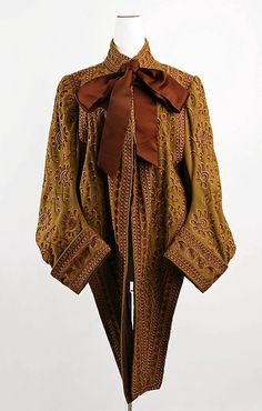 Coat 1883, American, Made of silk and wool