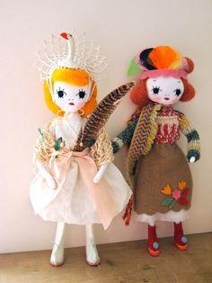 Hand crafted art doll cloth pose doll Swan by JessQuinnSmallArt