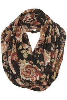 Black Floral Print Snood - New In This Week - New In - Topshop - StyleSays