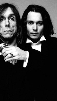Wow Wow Wow. I LOVE this. Iggy Pop & Johnny Depp. °