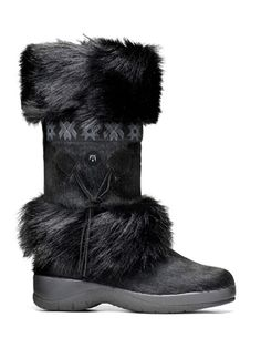 Women's Tecnica black boot - great for winter, skiing, etc! I have these boots and love them!  So cozy - I have them in black and tan!