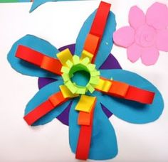 Paper sculpture relief flowers