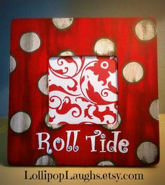 Alabama Roll Tide Hand Painted Picture Frame by LollipopLaughs, $7.00