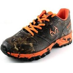 Realtree camo/orange sneakers