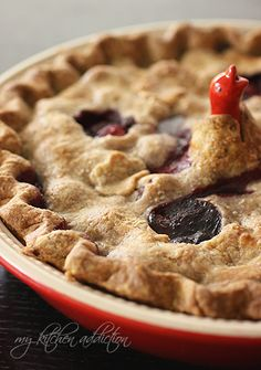 Mixed Berry Pie with Whole Wheat Crust