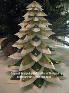 GIRLplusPAPER: Winter Wonderland Tree from Art Philosophy Cartridge