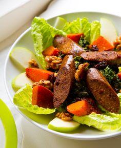 Vegan Sausage & Creamed Spinach