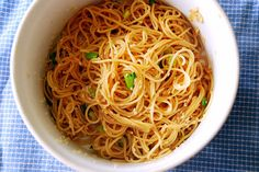 Sesame Garlic Noodles | These were so good! Gave you the taste of Chinese food, but a little healthier! Great re-heated the next day for lunch too.