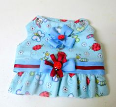 Flannel Small Dogs Harness Vest  Pet by BloomingtailsDogDuds