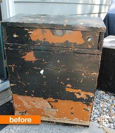 Before & After: Rescuing a Dumpster Dive Dresser Art is Beauty