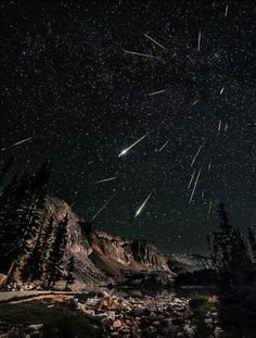 Perseids Meteor Shower in Wyoming