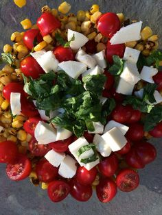 Fresh Corn and Tomato Salad by most lovely things.