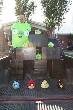 Trunk or Treat, Angry Birds game... they actually got to play the game as well! They loved it!