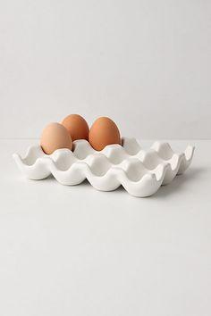 Stoneware Egg Crate.