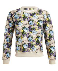 Floral Printed Cotton Sweatshirt