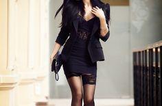 Blazer & black dress