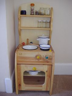Waldorf kitchen stove with real play materials ≈≈