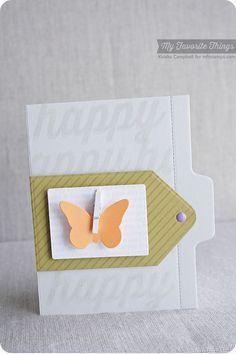 Diagonal Stripes Background, Happy Birthday Background, Happy Everything, Butterflies Die-namics, File Folder Edges Die-namics, Tag Builder Blueprints 1 Die-namics - Keisha Campbell #mftstamps