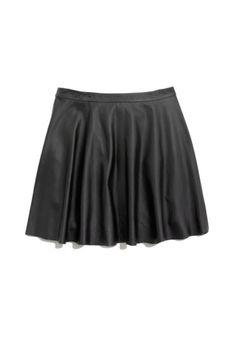 Leather Skater Skirt. Love.