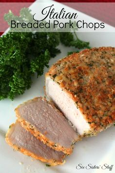 These Italian Breaded Pork Chops from SixSistersStuff.com are so tender and moist! The pan-searing keeps all the juices inside! #sixsistersstuff #recipes