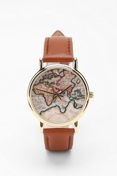 Around the World Leather Watch  #UrbanOutfitters
