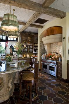 French Country kitchen - (via Interior Styles and Design: Fabulous French Country Interiors)