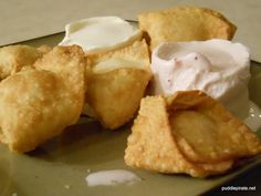 Fried Won Tons with Cream Cheese filling