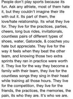 Soccer is me.