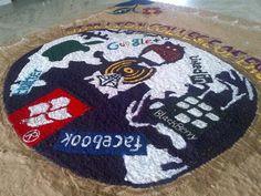 Social Media Rangoli :) Clicked at Star Lion Engineering College, Thanjavur, India