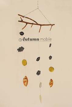 DIY: Autumn Mobile Tutorial with Template