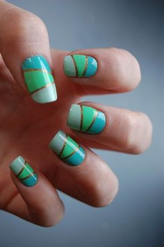 cool colors :)  #nail #nails #nailart