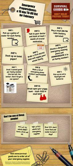 Emergency Preparedness - a 10 day plan #survival #prepper