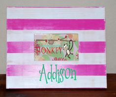 4x6 personalized frame made from reclaimed wood $30