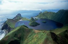 Volcanic crater lake, Kuril Islands, Russia (© Michael S. Yamashita/ Corbis)