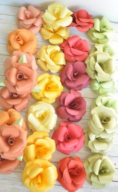 Large Paper Flowers- Wedding Decorations- Shower Decorations-Party Flowers via Etsy